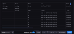 debug view raw data