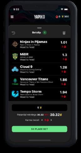 Caronte app betting